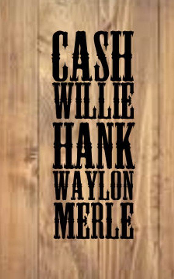 Waylon and willie clipart library Cash Willie Hank Waylon Merle SVG Hand Lettered Digital cut ... library