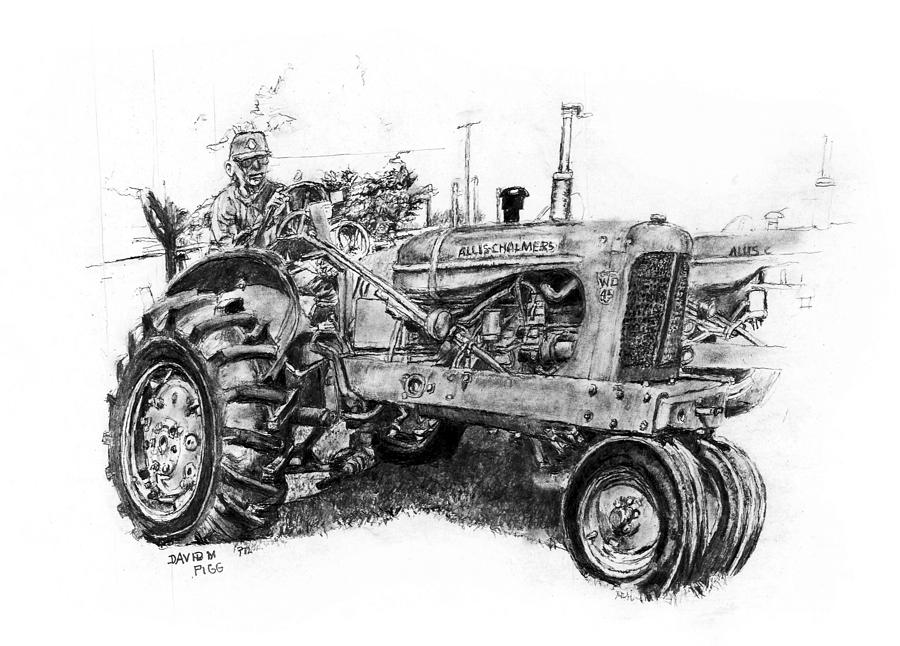 Wd45 allis chalmers clipart jpg library library 12 Tractor drawing tractor allis chalmers for free download ... jpg library library