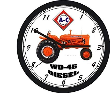 Wd45 allis chalmers clipart black and white ALLIS CHALMERS WD45 DIESEL TRACTOR WALL CLOCK- FREE USA SHIPPING black and white