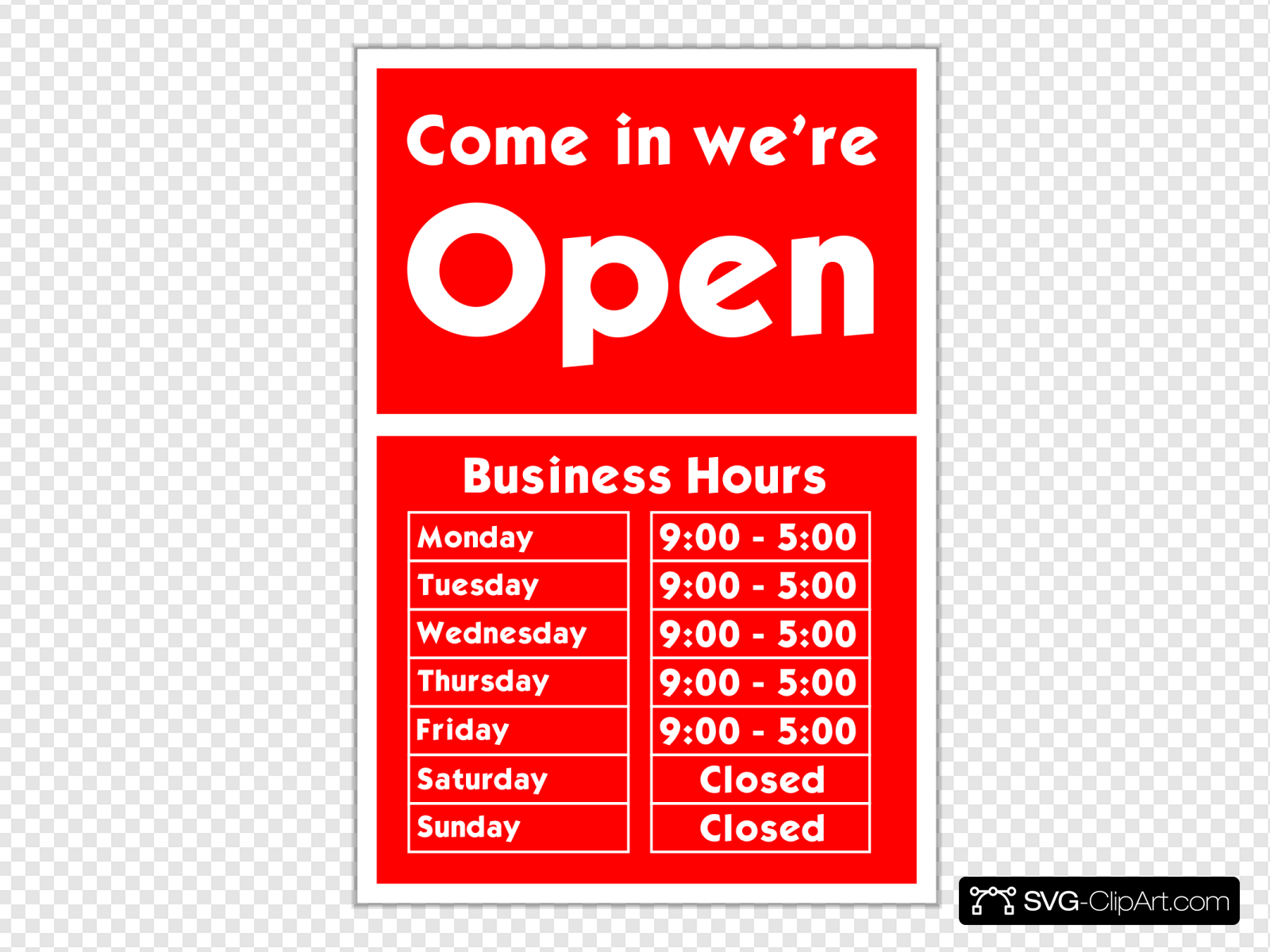 We are open sign clipart banner royalty free stock Come In We Are Open Sign Clip art, Icon and SVG - SVG Clipart banner royalty free stock