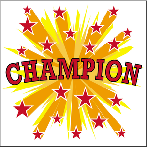 We are the champions clipart vector free stock Clip Art: Starburst Champion Color I abcteach.com | abcteach vector free stock