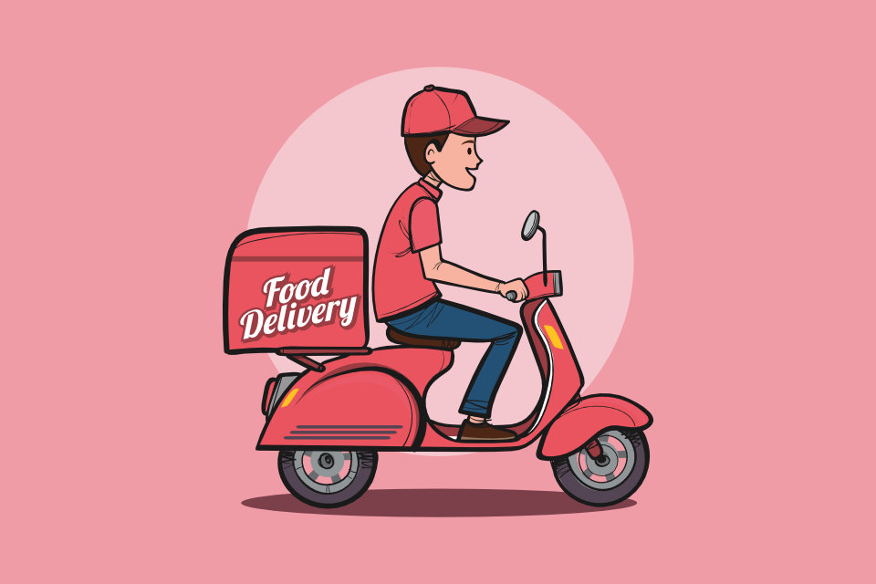 We deliver bus clipart picture transparent stock Ordering Takeout in Seoul - Food Delivery Service in Korea picture transparent stock