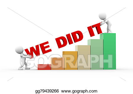 We did it clipart svg royalty free download Stock Illustration - 3d people with text we did it. Clipart ... svg royalty free download