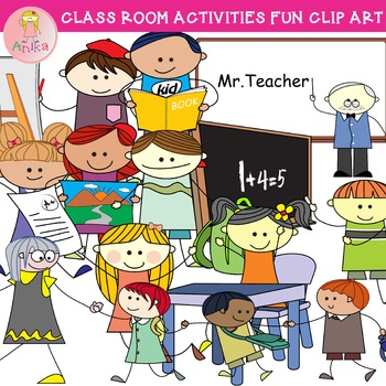 Fun classroom clipart clip royalty free stock Doodle Classroom Activities Fun Clip Art clip royalty free stock