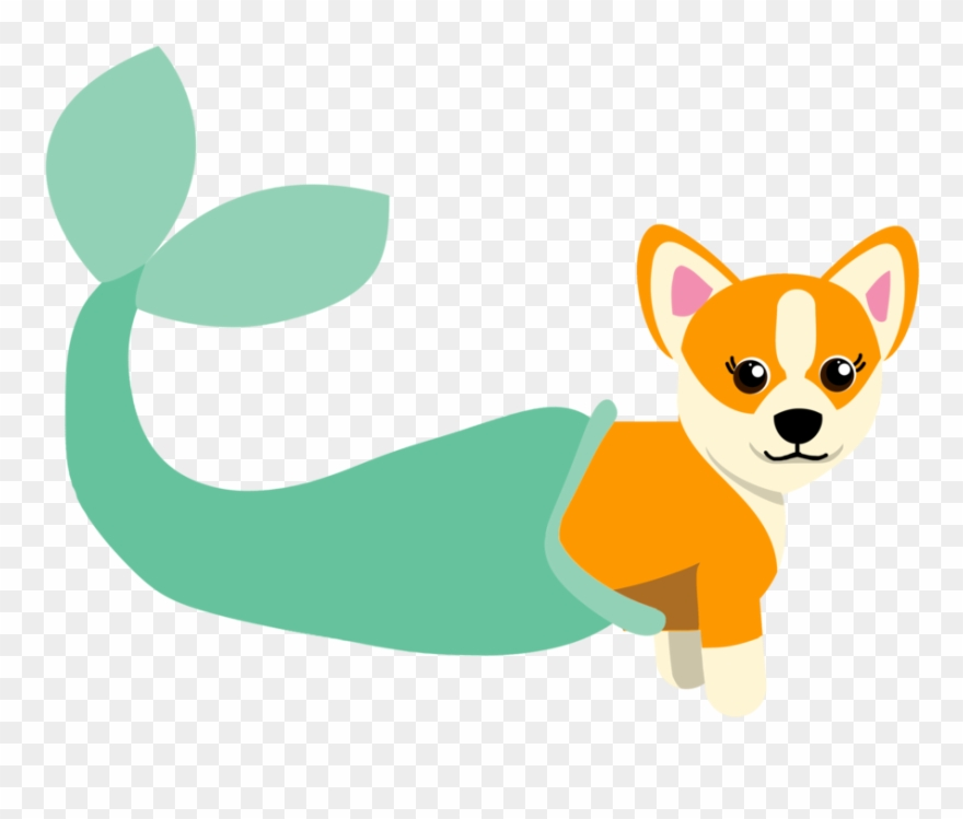 We like each other clipart clipart black and white download we Were Mermaid For Each Other\' Mer-corgi Sticker ... clipart black and white download