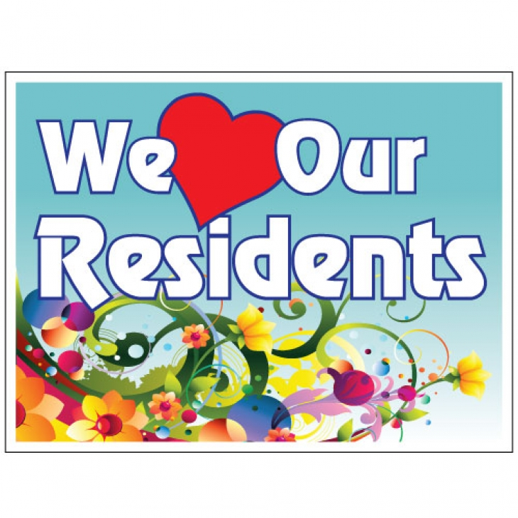 We love our residents clipart banner royalty free library We Love Our Residents Clipart banner royalty free library