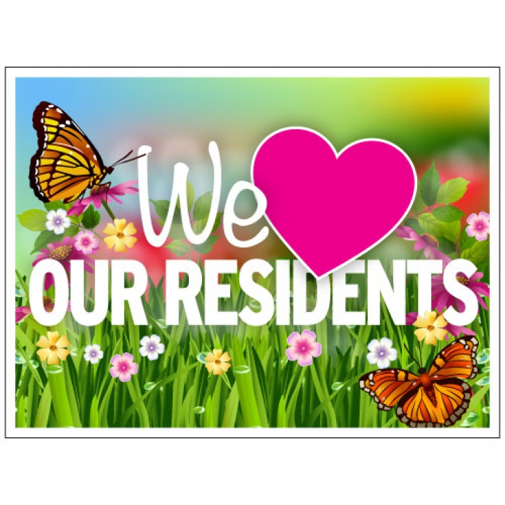 We love our residents clipart library Bandit Signs - Butterfly library