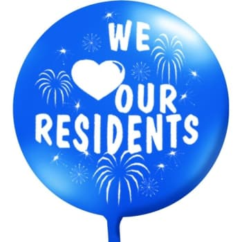 We love our residents clipart vector black and white library We Love Our Residents Balloon, Blue   HD Supply vector black and white library