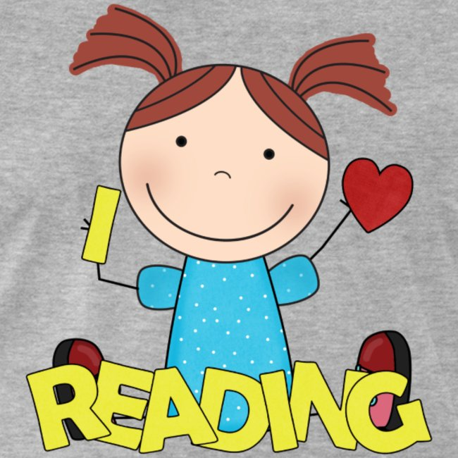 We love reading clipart jpg free stock I love Reading! | Men\'s Premium T-Shirt jpg free stock