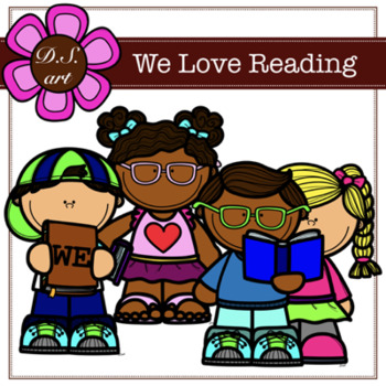 We love reading clipart png library library We Love Reading Digital Clipart (color and black&white) png library library