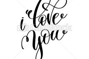 We love you clipart black and white