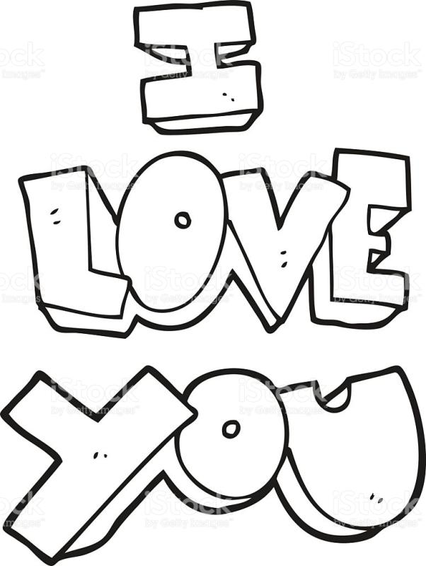 We love you clipart black and white picture free I Love You Clipart Black And White (105+ images in ... picture free