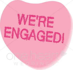 We re engaged clipart png freeuse We\'re Engaged Conversation Heart Clipart | Valentine\'s Clipart png freeuse