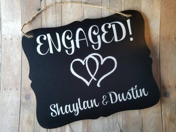 We re engaged clipart vector Engaged Sign With Heart Clip Art Personalized - Wedding Sign ... vector