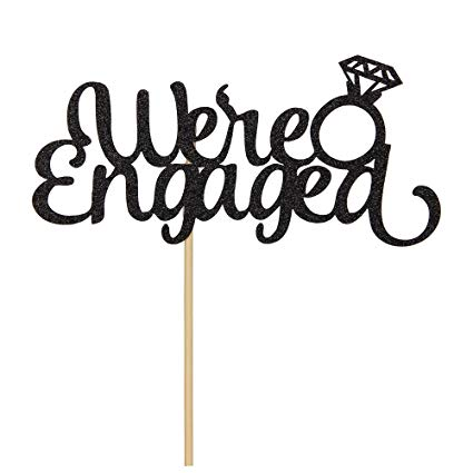 We re engaged clipart free stock Amazon.com: We\'re Engaged Cake Topper with Diamond Ring ... free stock
