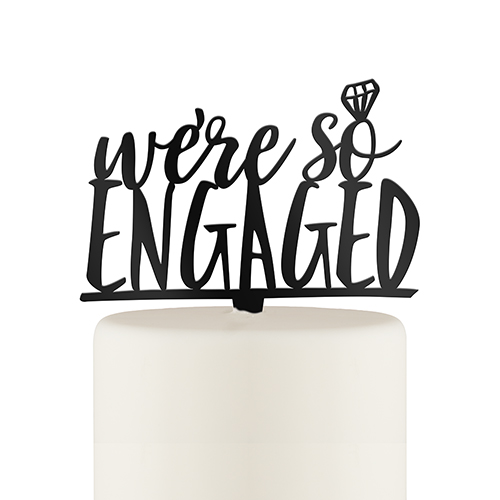 We re engaged clipart image library download We\'re So Engaged Cake Topper image library download
