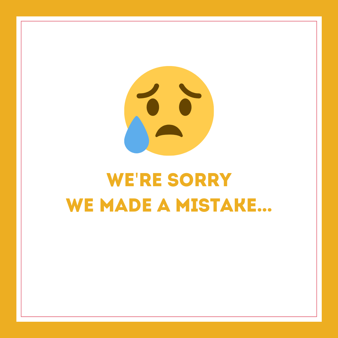 We re sorry clipart jpg royalty free download We\'re Sorry For the Mistake… | Barbizon USA Placement jpg royalty free download