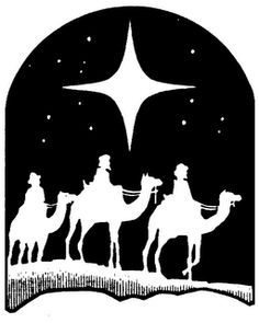 We three kings black & white clipart banner freeuse stock How To Draw The Three Wise Men | Three Wise Men, How To Draw ... banner freeuse stock