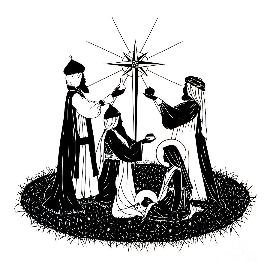 We three kings black & white clipart clip art transparent library We Three Kings - Dpwtk by Dan Paulos clip art transparent library