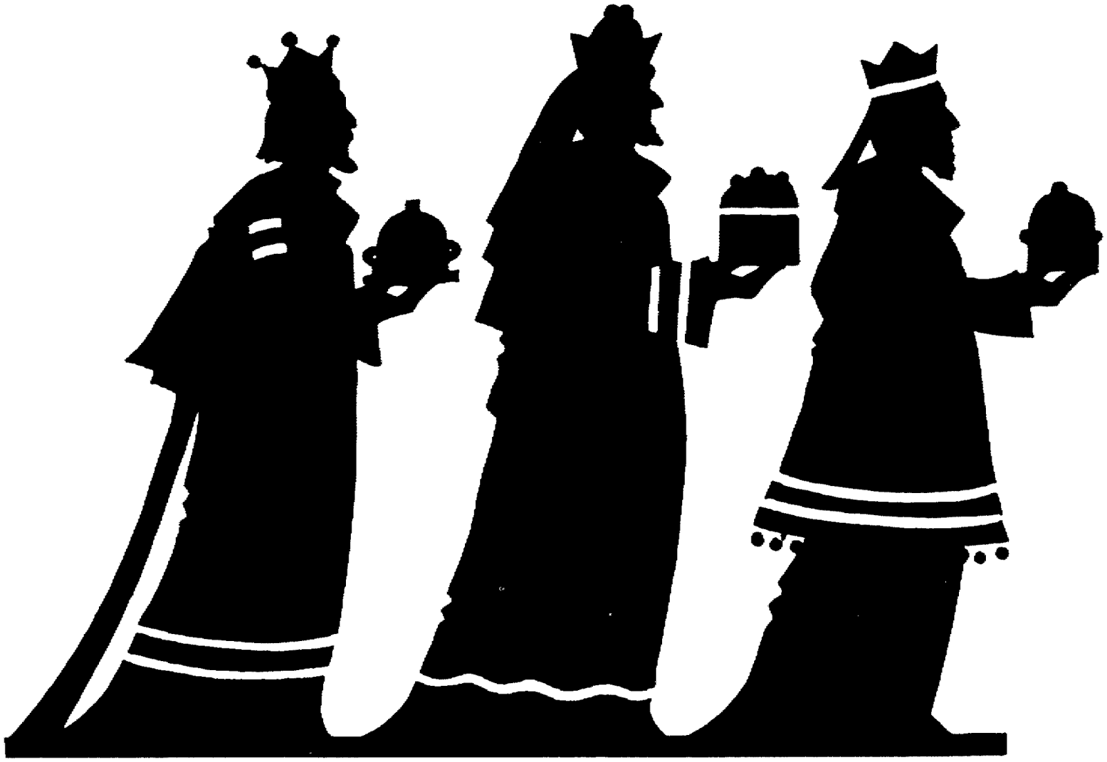We three kings black & white clipart jpg free bethlaham star silhouette | The three Wise Men, a camel and ... jpg free