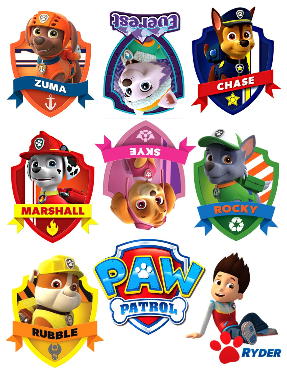 We will miss you clipart paw patrol svg free library iron on sheet of paper with paw patrol logo and by ... svg free library