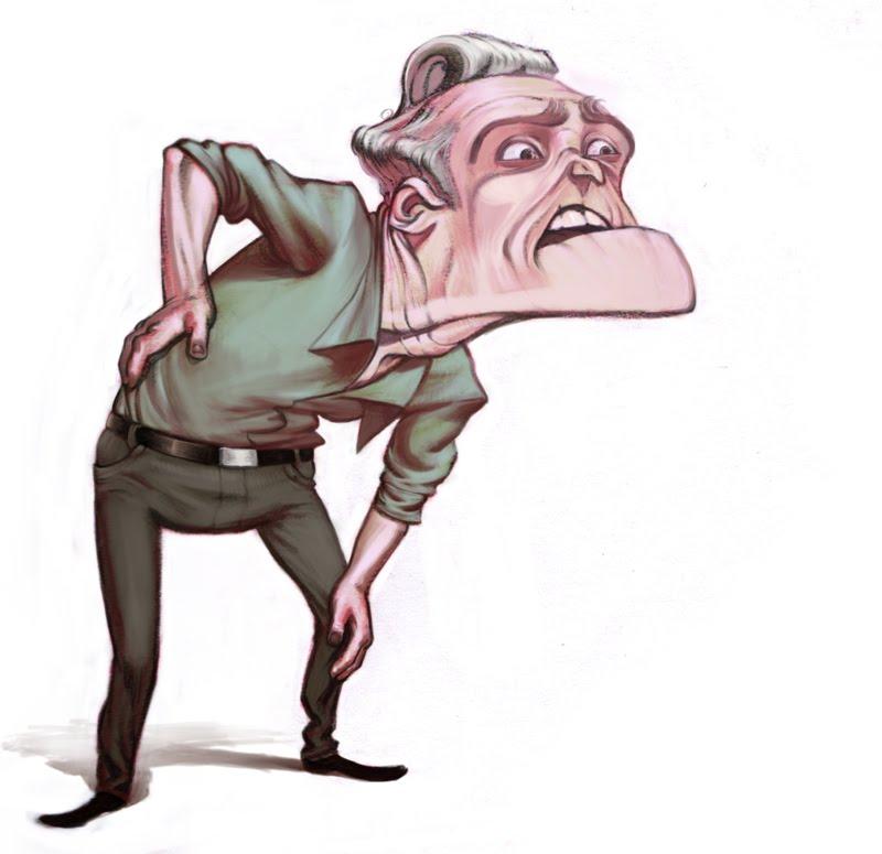 Weak old man clipart