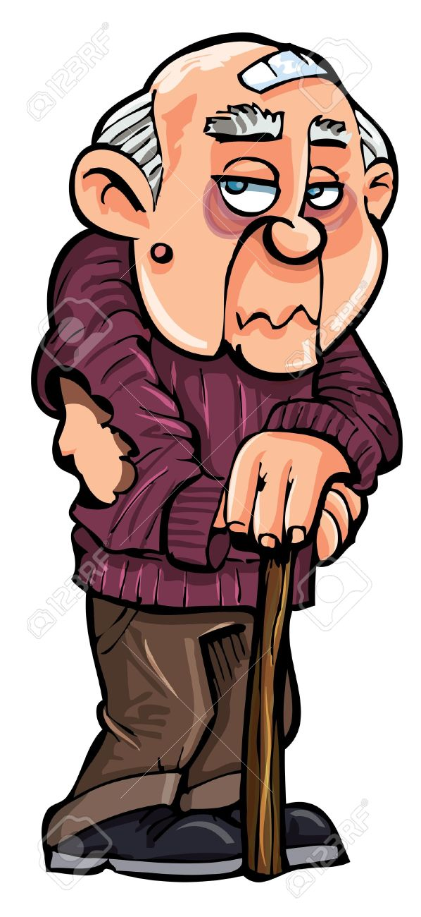 Weak old man clipart clip transparent Weak Man Cartoon Group with 81+ items clip transparent