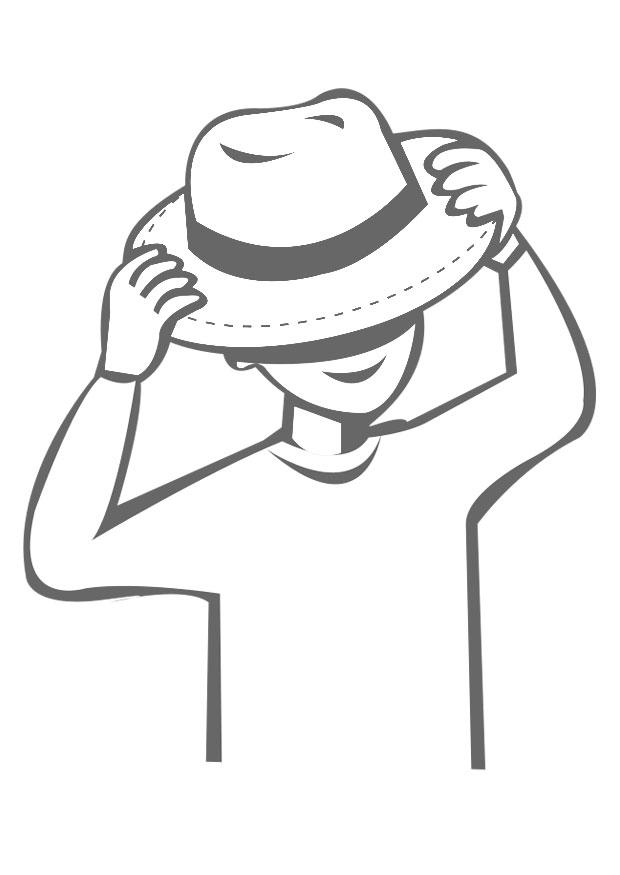 Wear a hat clipart clipart library library Coloring page to wear a hat - img 22540. Images clipart library library