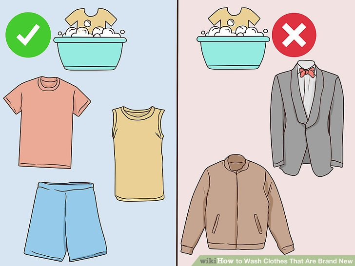 Wear clothes inside out clipart graphic royalty free stock How to Wash Clothes That Are Brand New (with Pictures) - wikiHow graphic royalty free stock