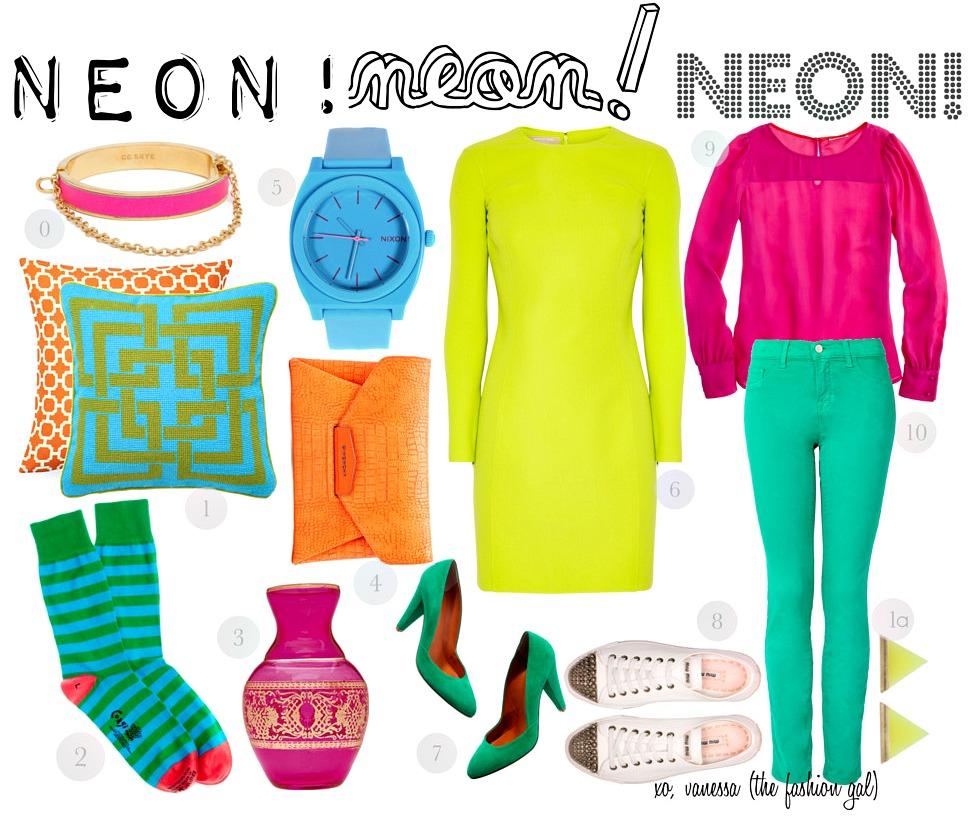 Wear neon clipart image free The Neon Trend – Tanushree Srivastava image free