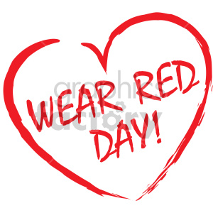Wear red clipart clipart wear red day clipart. Royalty-free clipart # 407739 clipart