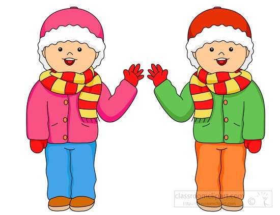 Wearing warm clothes clipart picture black and white stock Outdoor Learning | Primary 1 picture black and white stock