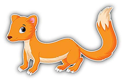Weasel cartoon clipart clip library stock Amazon.com: Cute Weasel Cartoon Animal Art Decor Bumper ... clip library stock