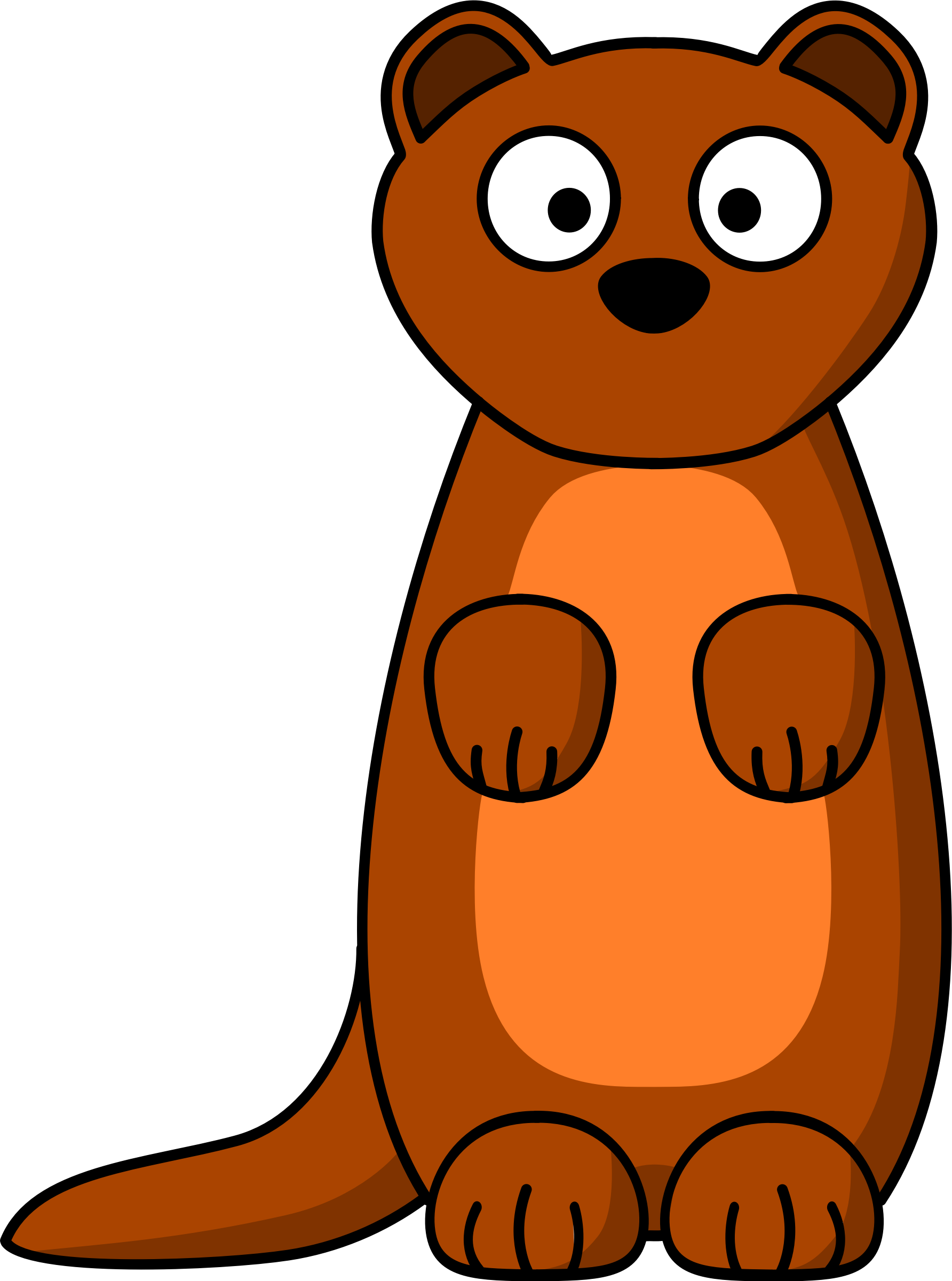 Weasel funny clipart picture free stock Cartoon Weasel by @Schplook, Cartoon weasel (or ferret, or ... picture free stock