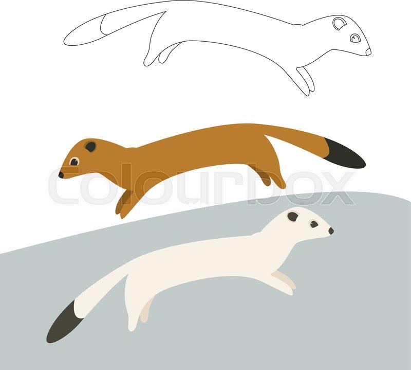 Weasel funny clipart clip transparent stock cartoon weasel vector illustration ...   Stock vector ... clip transparent stock