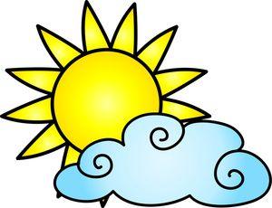 Weather cartoon clipart vector free library cartoon_sun_and_cloud | motívy zásteny za posteľ | Cartoon ... vector free library