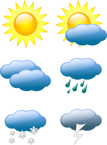 Weather conditions clipart image free library Weather Symbols Clip Art at Clker.com - vector clip art ... image free library