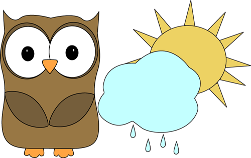 Weather helper clipart picture black and white stock Owl Classroom Weather Helper | Clip art for schedules ... picture black and white stock