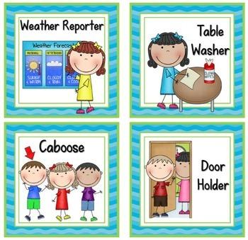 Weather helper job clipart vector freeuse library Ocean Theme Classroom Helpers Job Cards Editable! - Ocean Theme Classroom  Decor vector freeuse library
