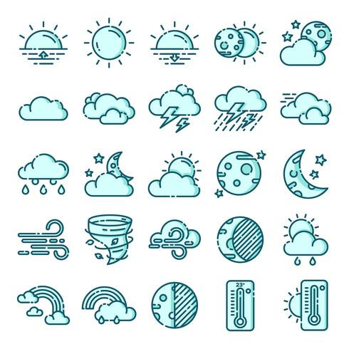 Weather icon pack clipart vector freeuse stock Weather icons pack - Download Free Vectors, Clipart Graphics ... vector freeuse stock