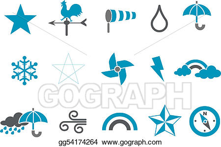 Weather icon pack clipart graphic transparent stock Vector Stock - Weather icon set. Clipart Illustration ... graphic transparent stock