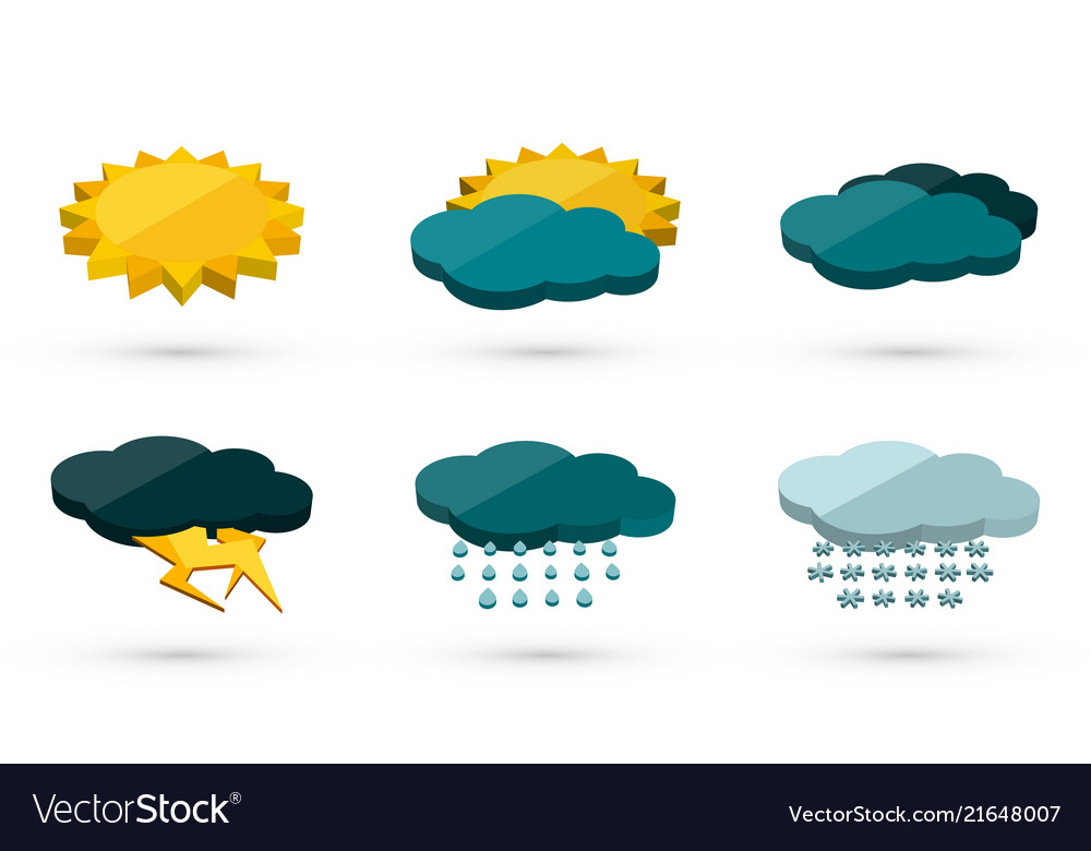 Weather icon pack clipart banner royalty free 3d graphic weather icons set banner royalty free