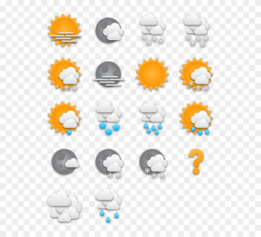 Weather icon pack clipart picture freeuse stock Tick Weather Icons - Weather Icon Pack Png Clipart (#497532 ... picture freeuse stock
