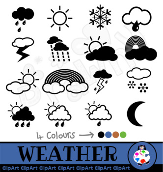 Weather icons clipart for teachers