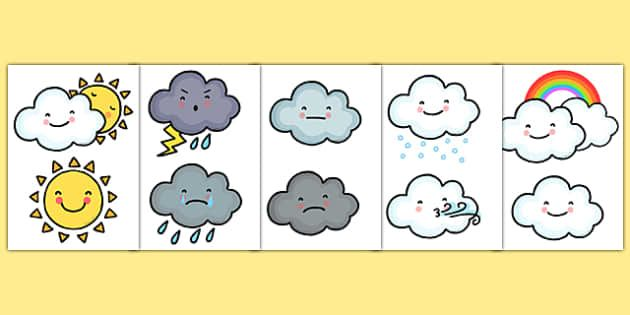 Weather icons clipart for teachers banner free download Weather symbols for daily calendar | Crafty Goodness ... banner free download
