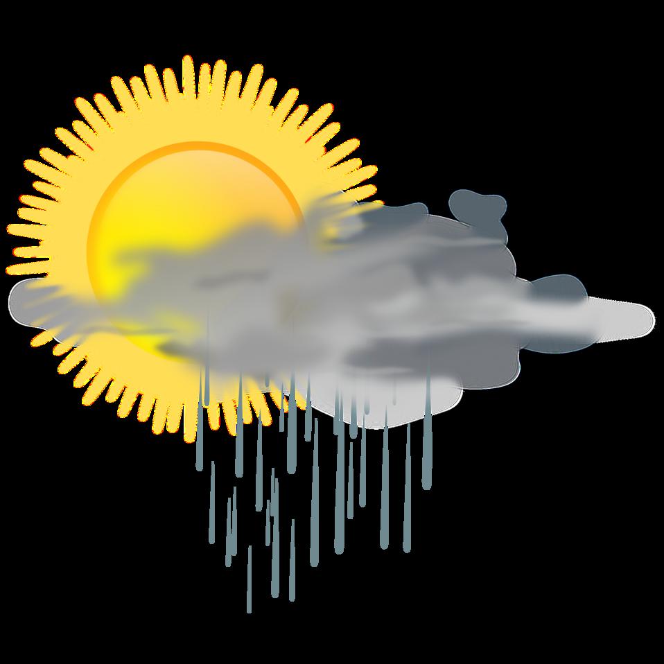 Weather sun clipart freeuse stock Public Domain Clip Art Image | weather icon - sun rain | ID ... freeuse stock