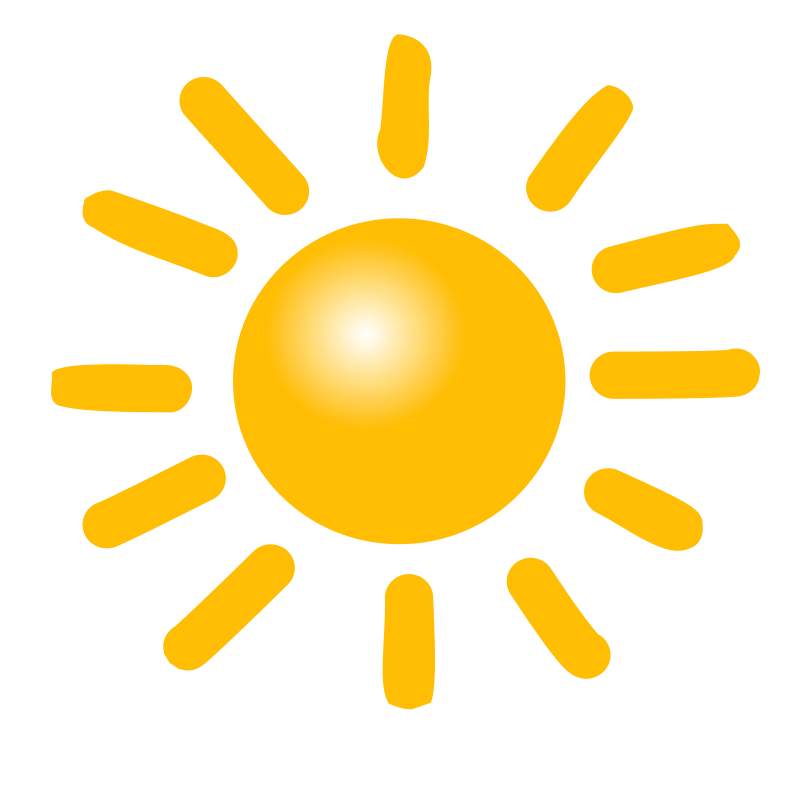 Weather symbol clipart picture library library Free Clipart: Weather Symbols: Sun   nicubunu picture library library