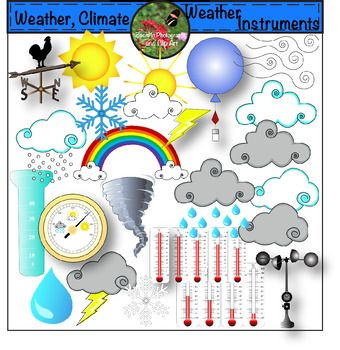 Weather tools clipart picture library Weather Climate and Weather Instruments Clip Art | Clip art ... picture library