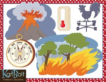Weather tools clipart clipart freeuse download Weather Tools, Scenes and Natural Disasters Clip Art clipart freeuse download