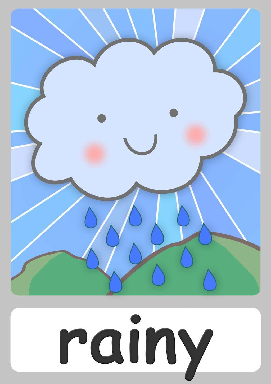 Weather words clipart vector transparent download FREE weather Flashcards For Kindergarten! Teach weather ... vector transparent download